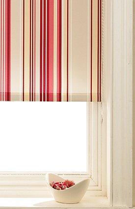 roller blinds red stripes