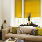 roller blinds yellow